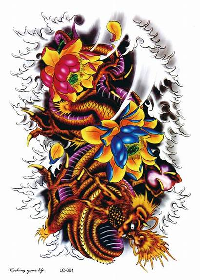Dragon Tattoo Flower Tattoos Lotus Shoulder Tatoo