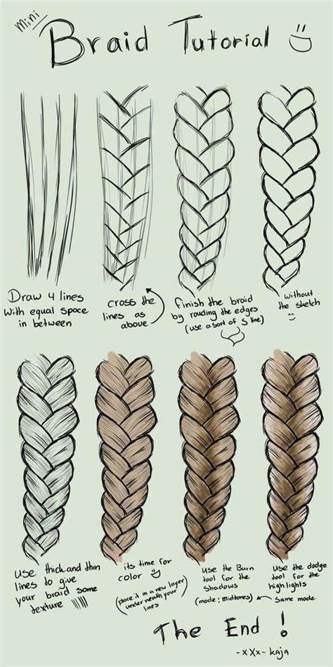 mini braid tutorial drawing draw desenhos aleatorios