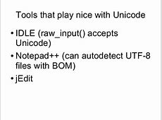 Unicode for Small Children and Children at Heart