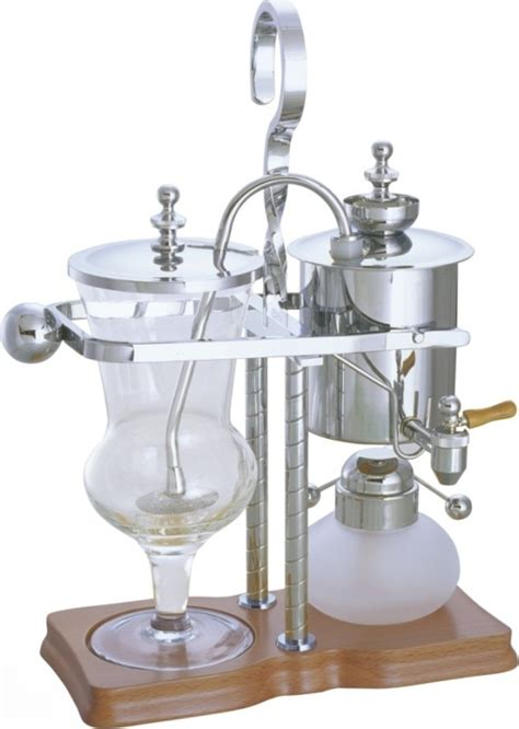 Siphon coffee makers are made up of four parts: Luxury Silivery Balancing roayl syphon coffee maker/Siphon coffee maker /Tea pot with top ...