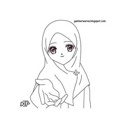 Wanita Gambar Mewarnai Berhijab Untuk Muslimah Barbie