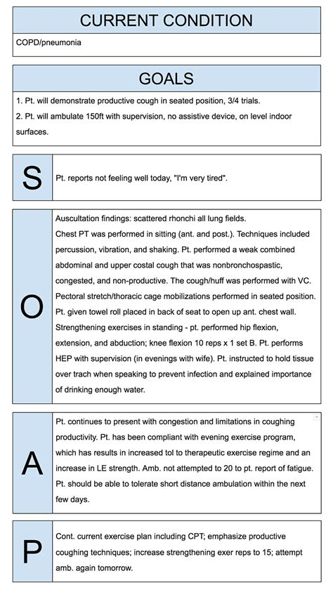 soap note how to write physical therapist soap notes