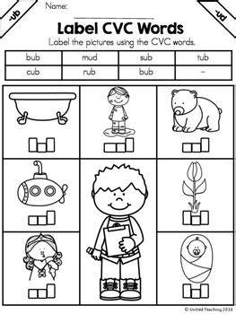 cvc words letter box label  images cvc words