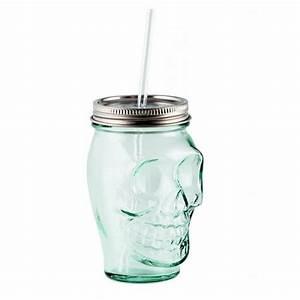 Coffret Verre Tete De Mort : verre mason jar t te de mort quai sud kookit ~ Teatrodelosmanantiales.com Idées de Décoration