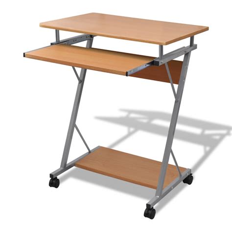 table de bureau but la boutique en ligne table de bureau brune pour ordinateur