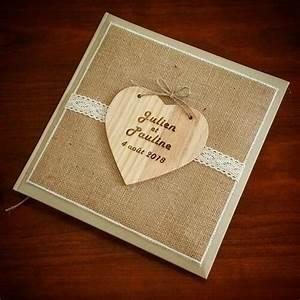 Livre D Or Mariage Champetre : livre d 39 or pour un mariage champ tre avec 1ere de ~ Dode.kayakingforconservation.com Idées de Décoration