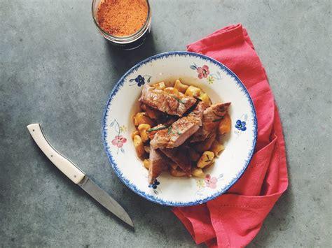 porc basque au jus de veau maison gnocchis de l 233 gumes my spoon