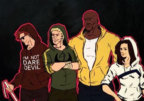 Matt Murdock, Danny Rand, Luke Cage, And Jessica