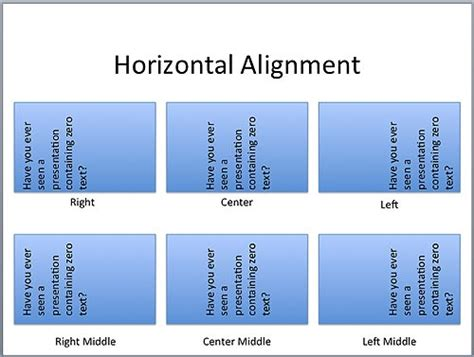 horizontal alignment how to i text layout options in powerpoint 2011 for mac mac