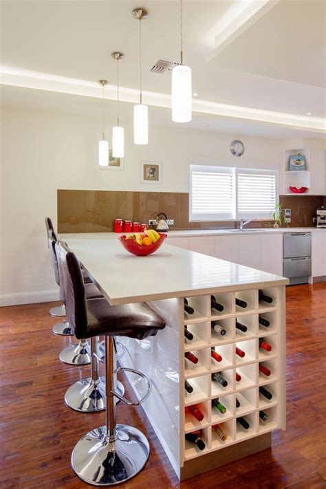 kitchen island with wine rack 4 smart ideas for kitchen racks design shelving