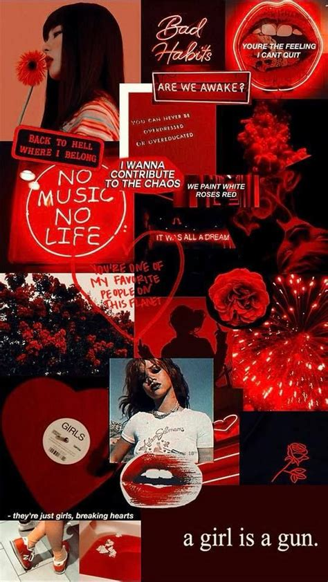red love   Aesthetic wallpapers, Red wallpaper, Trendy ...