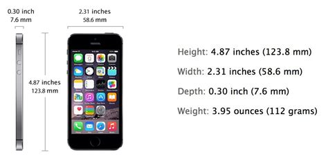 iphone 5 size iphone 5 exact weight and size dimensions