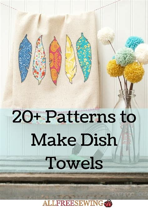 patterns   dish towels allfreesewingcom