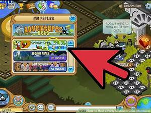 How to host a party on animal jam members with pictures for Floor lamp animal jam