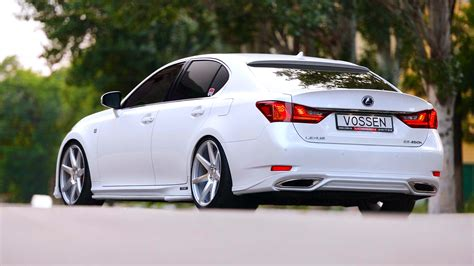 Lexus Gs Backgrounds by White Car Lexus Gs Vossen Wallpapers Hd Desktop And