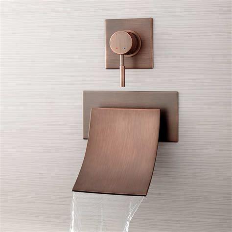 reston wall mount waterfall tub faucet wall mount tub