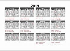 2019 Accounting Calendar 544 Free Printable Templates