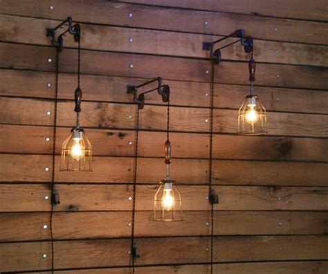 pulley mounted industrial wall lights adorable home