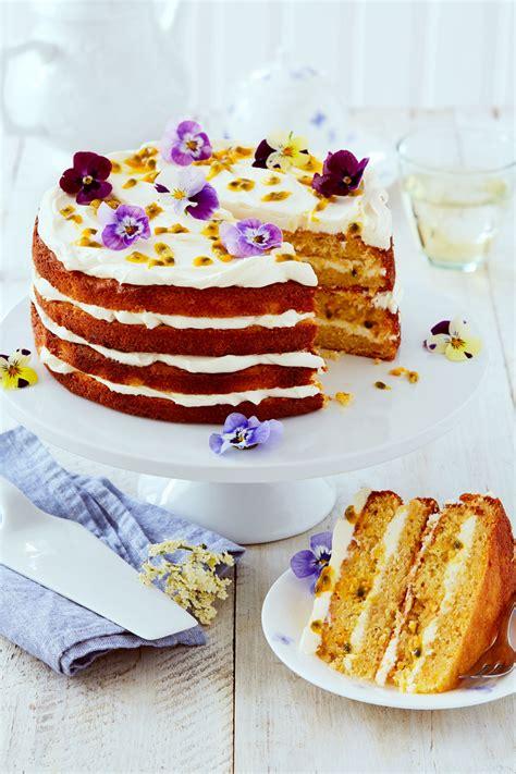 elderflower orange passion fruit layer cake recipe