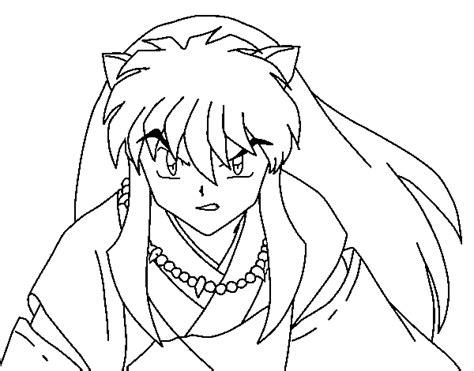 dibujo de guerrero inuyasha  colorear dibujosnet
