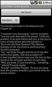 Hitchhikers Guide Quotes  Quotesgram