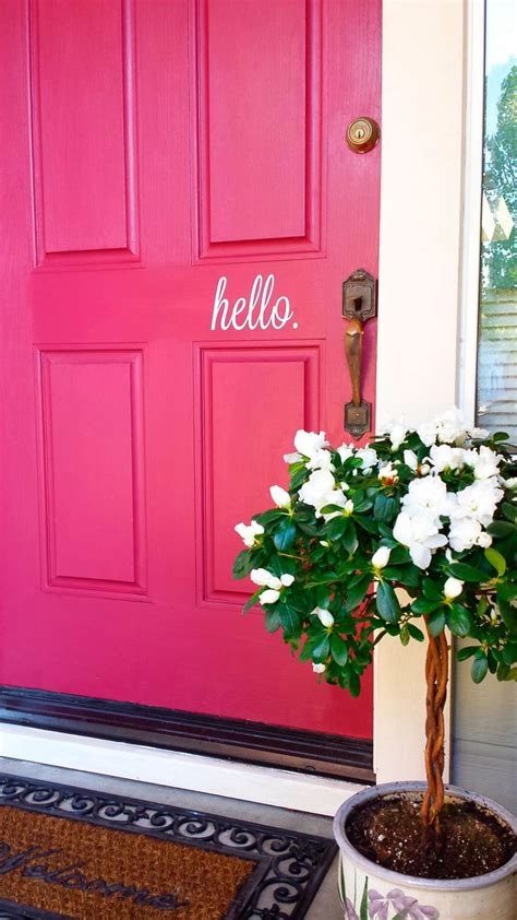 ideas  front door makeover  pinterest