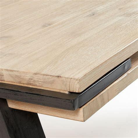 Table Bois Massif Design Table 224 Manger Design Industriel Bois Massif Et M 233 Tal Spike By Drawer