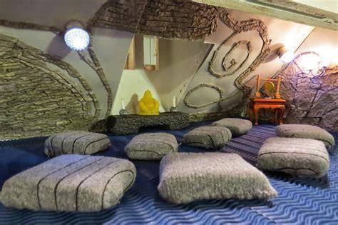 Attic Meditation Room Design With Unique Decoration And