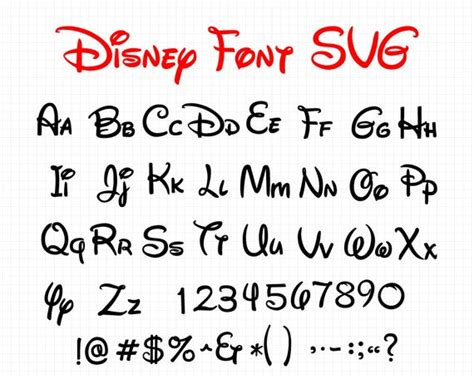 How to download and upload free.svg files into cricut design space etc. Disney Font SVG Collection - Disney Alphabet DXF - Disney ...