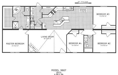 3 Bedroom Wide Floor Plans by Beautiful 1998 Fleetwood Mobile Home Floor Plans New