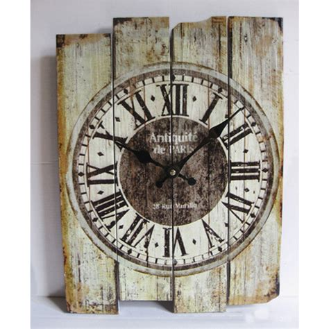 vintage wall retro antique vintage wood wall clock silent no ticking