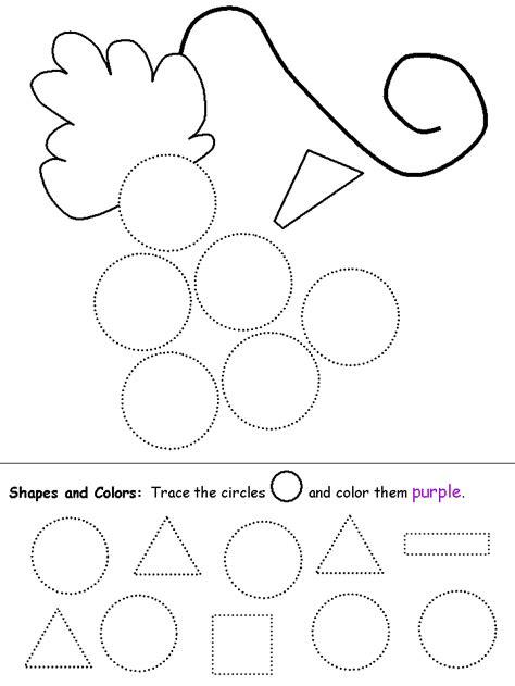 Circle Worksheet  Transitional Kindergarten Ideas  Pinterest Worksheets