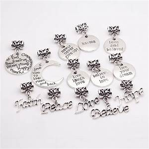vintage silver metal zinc zinc alloy alphabet letter With large letter charms