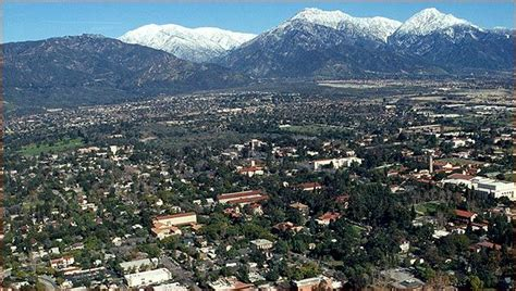 claremont ca with mount baldy in the background www