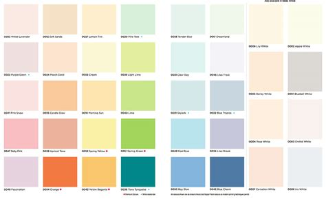 ici paint colors