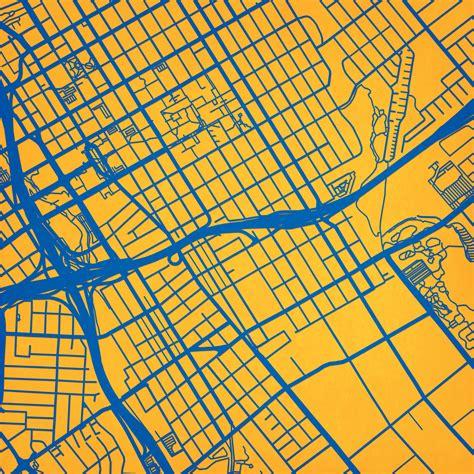 san jose state university cus map art city prints