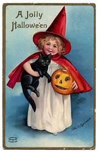 vintage clip witch