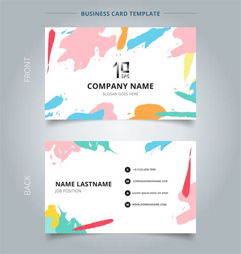 Abstract Shapes Names by Name Card Template Abstract Shapes Pattern Pastels