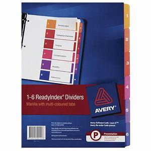 avery a4 1 6 tabs dividers ready index table of contents With avery 6 tab dividers