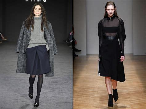 Модные юбки осеньзима 20162017 цвет длина материалы .