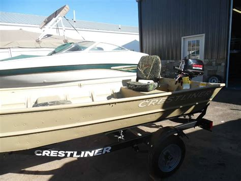 Jon Boat Package by New 2016 Crestliner 12 Wide Jon Boat Package Power