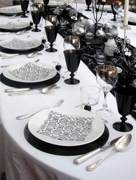 black and white dinner table setting 58 elegant black and white wedding table settings