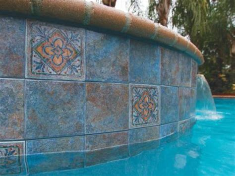 6x6 Blue Pool Tile by National Pool Tile Raku 6x6 Series Cobalt Blue
