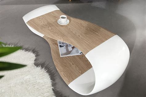 bureau et blanc table basse design strimo design
