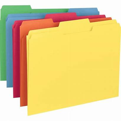 Folders Tab Smead Tabs Colored Cut Folder