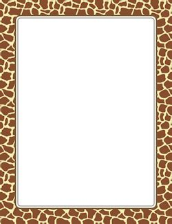 Jungle Safari Leopard Animal Print Wallpaper Border - giraffe print border page borders giraffe