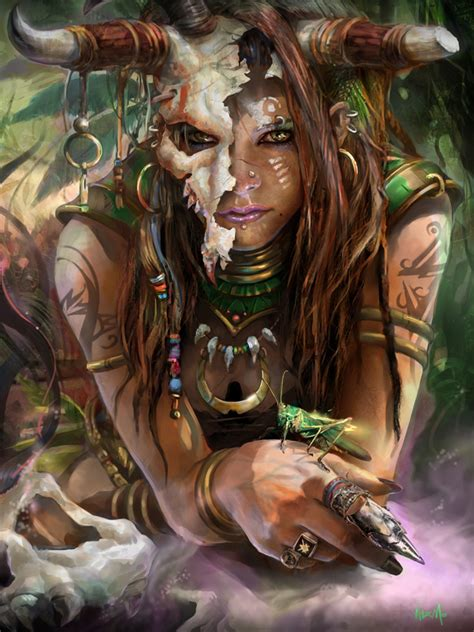 voodoo witch doctor  images character art fantasy