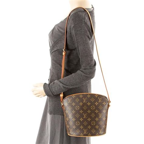 louis vuitton monogram drouot shoulder bag authentic pre