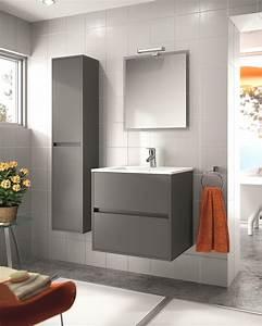 Modèle Salle De Bain : modele salle de bain grise ~ Voncanada.com Idées de Décoration