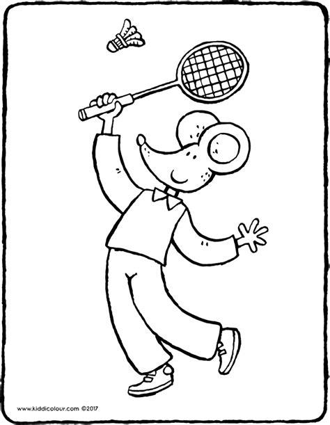 Kleurplaat Badminton by Sport Colouring Pages Pagina 2 3 Kiddicolour